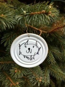 Soup Can Lid Ornament