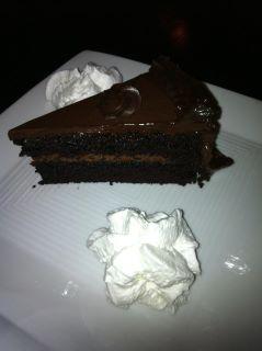 Chocolate cake rom Night Kitchen Bakery, served at Vietnam Cafe
