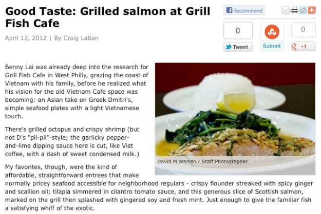 Grill Fish Cafe- Craig LaBan