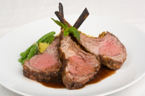 Rack of Lamb with Haricot Vert and Potatoes